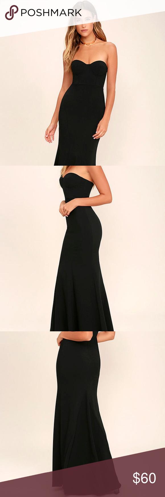 f6eff47a0b Lulu s For Infinity Black Strapless Dress Never worn