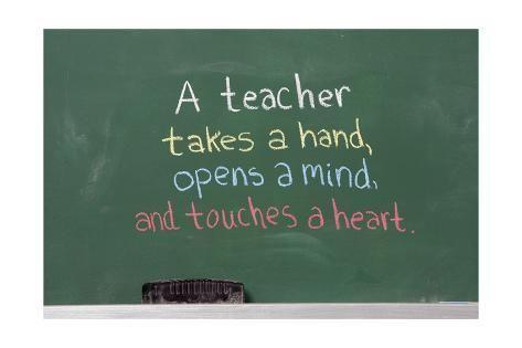 Art Print: Inspirational Phrase For Teacher Appreciation by Savannah1969 : 24x16in
