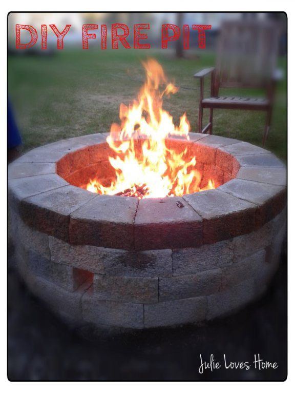 How to build your very own stone Fire Pit! | Outside fire ...
