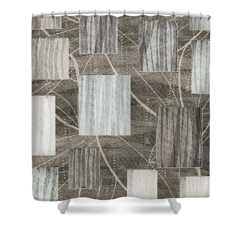 Neutral Cream And Gray Tones Geometric Nature Print Masculine