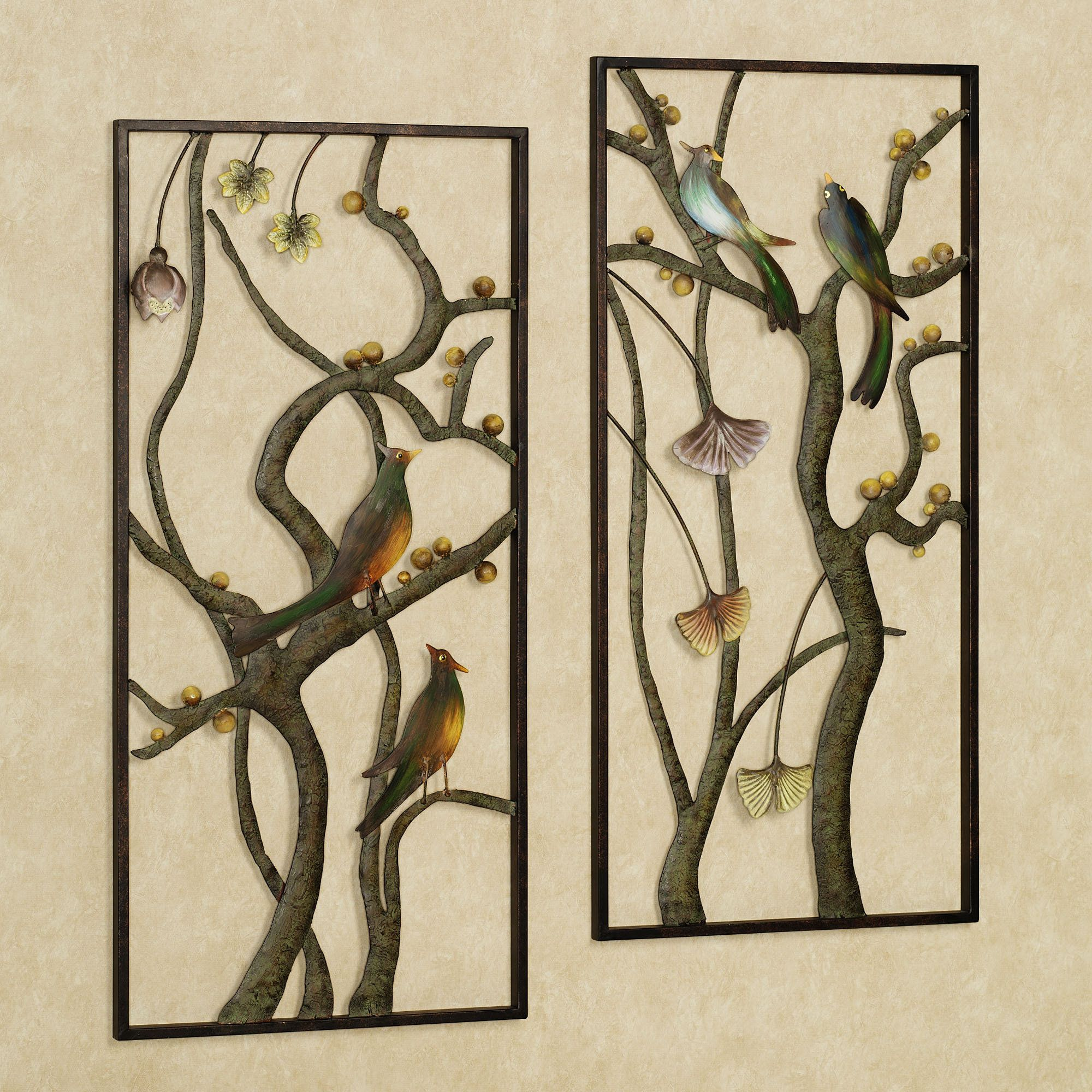 Asian Garden Metal Wall Panel Art Set Metal Tree Wall Art Outdoor Metal Wall Art Metal Garden Wall Art