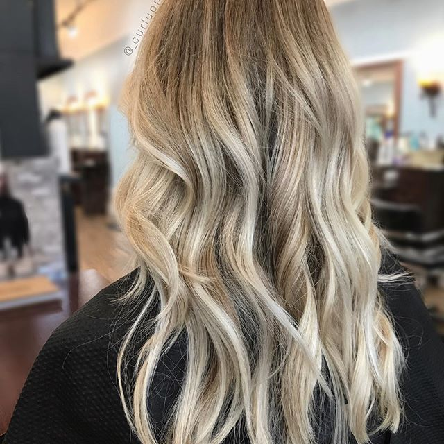 Strawberry Blonde Roots To A Icy Blonde Balayage