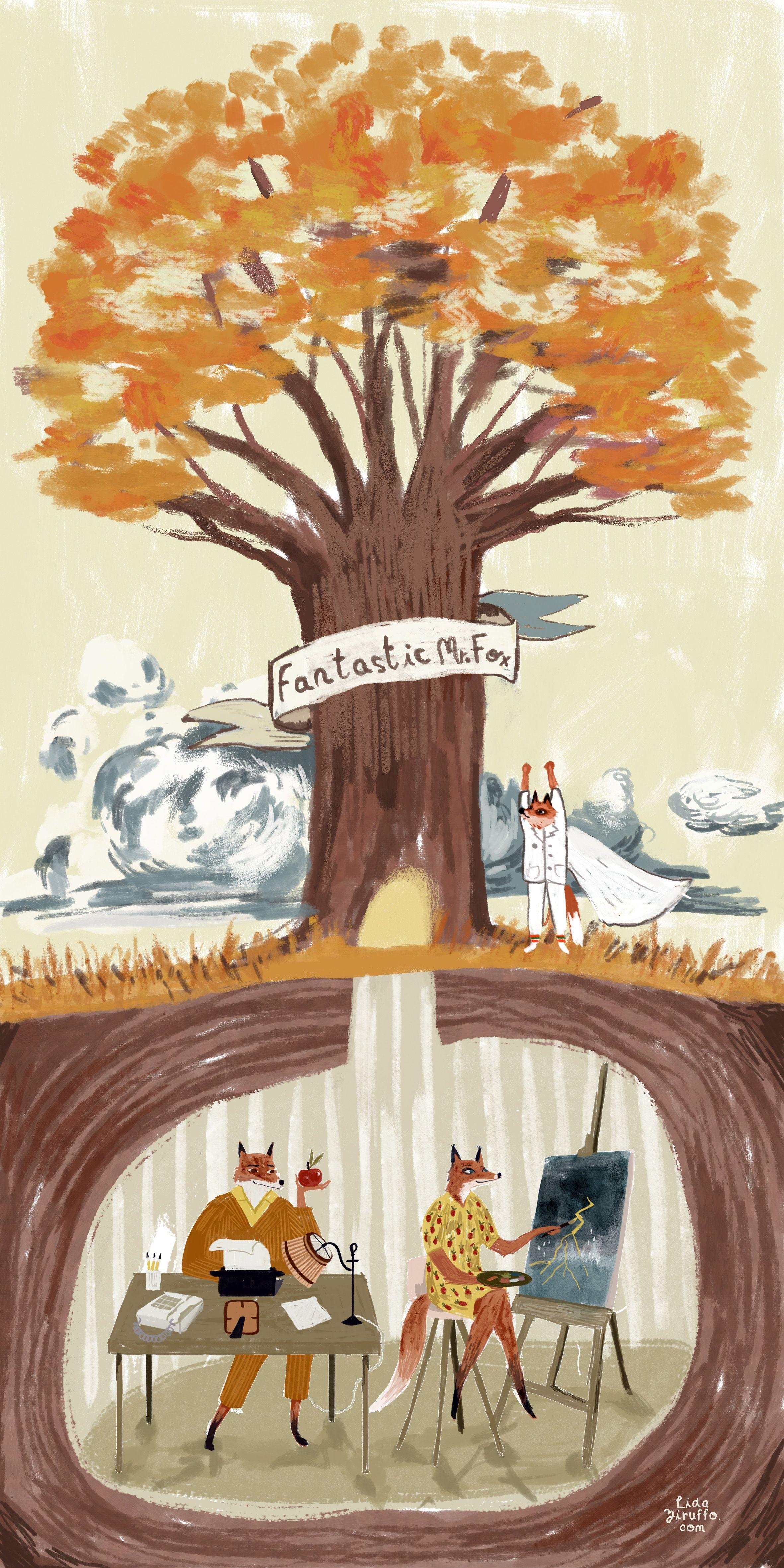 Fantastic Mr Fox Fantastic Mr Fox Fox Illustration Fox Art