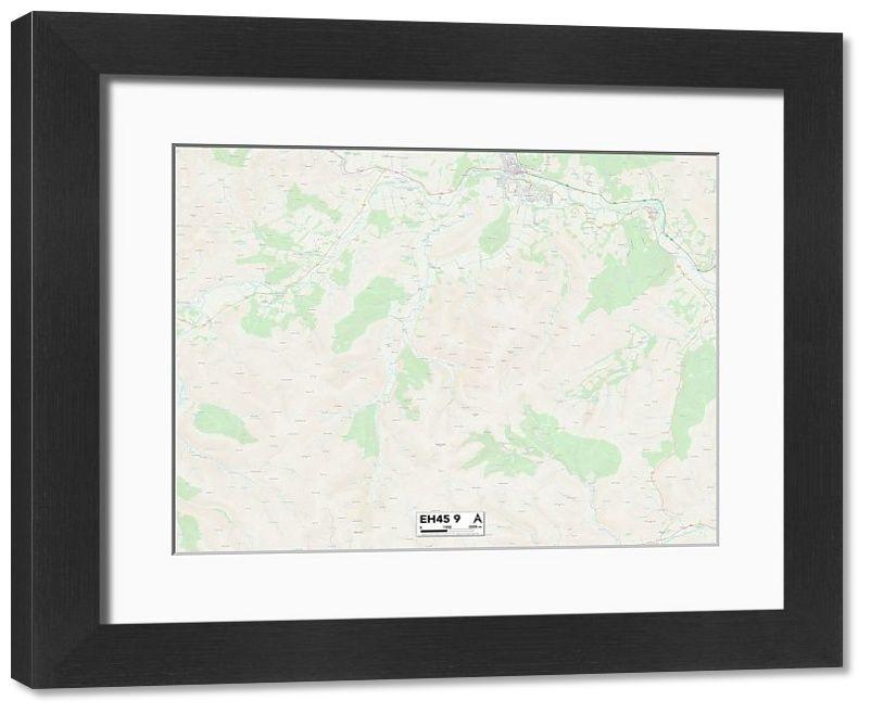 Framed Print Scottish Borders EH45 9 Map