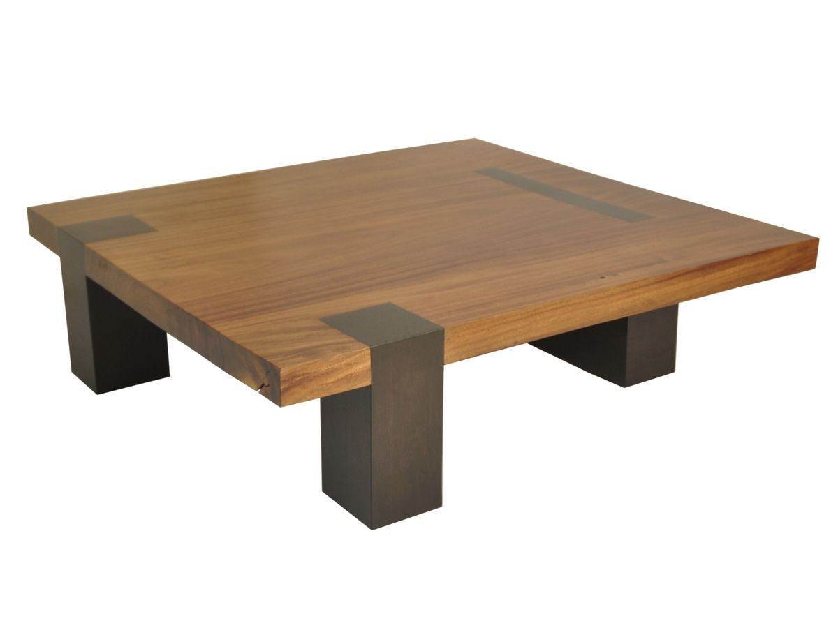 Contemporary Coffee Table In Reclaimed Wood SQUARE TAMBURIL Rotsen Furniture