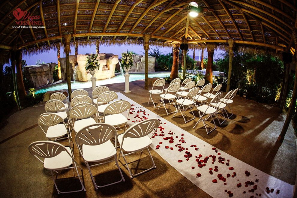 Las vegas outdoor wedding packages small intimate setting for Las vegas wedding reception packages