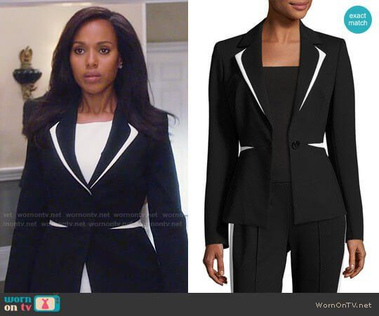Vestiti Da Ufficio : Olivia s black and white blazer on scandal