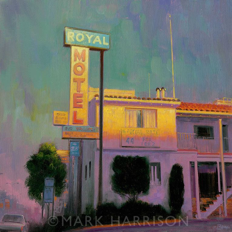 """""""Royal Motel"""", An Earlier Painting Of A Motel In San"""