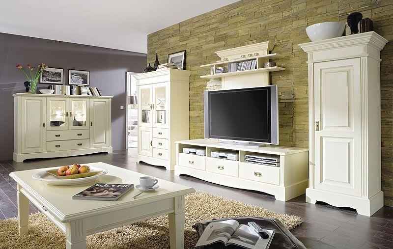massivholzmöbel - wohnzimmer im landhausstil - kiefer möbel ... - Wohnzimmer Weiß Landhausstil
