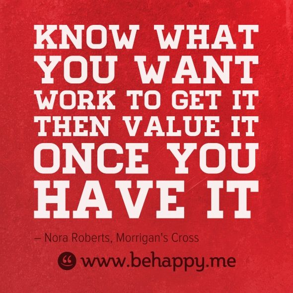 know what you want...