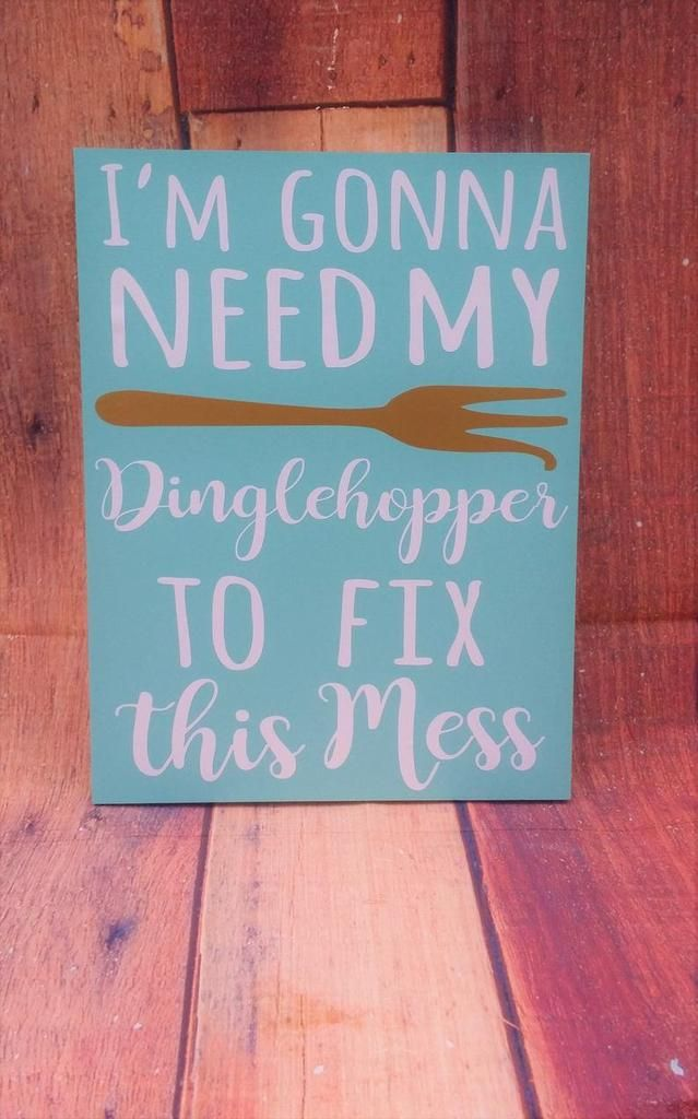 I'm gonna need my Dinglehopper to fix this mess, FREE SHIPPING, Little Mermaid Sign, Disney sign