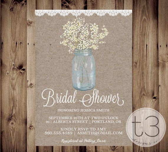 country bridal shower invitation, bridal shower invitation, Baby shower invitations