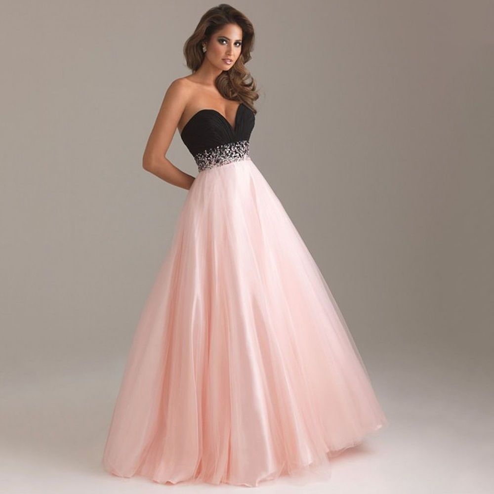 Women Long Formal Prom Dress Cocktail Party Ball Gown Evening ...