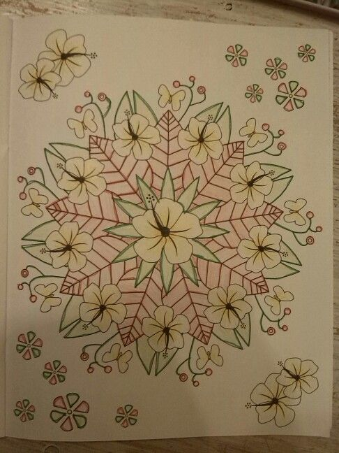 Mandala gekleurd