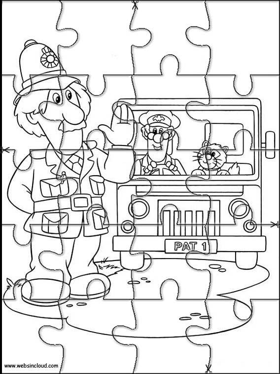 Puzzles rompecabezas recortables para imprimir Pat El Cartero 9 ...