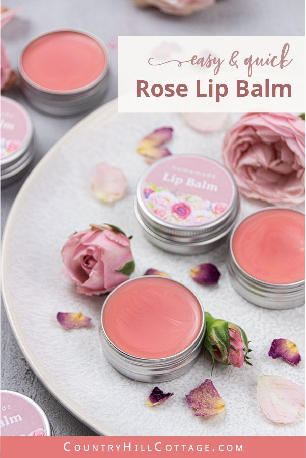 Homemade Rose Lip Balm – Tinted Lip Balm Recipe with Coconut Oil