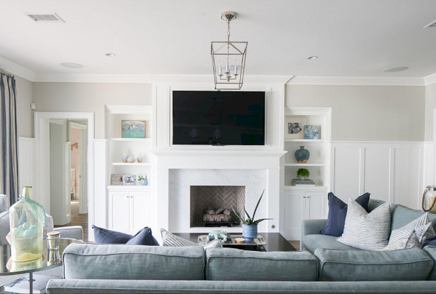 88 Modern Coastal Living Room Décor Ideas | Coastal living rooms ...