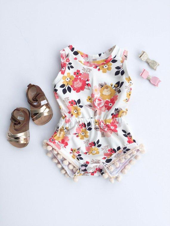 17de4081e Baby Romper; Infant Romper; Baby Shower Gift; Handmade Baby Gift; Baby Girl  Clothes; Baby Girl Outfi