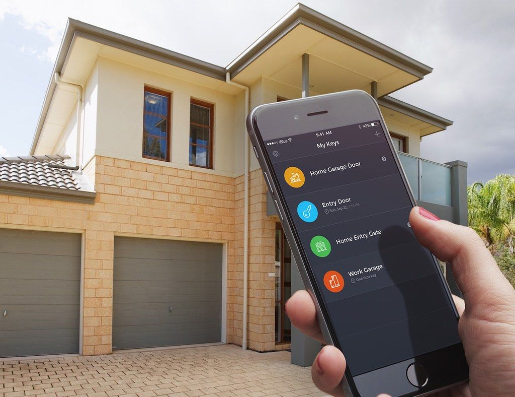 The iBlue Smart Gate device enables you to easily and securely control electric gates and garage doors from your smartphone via a Bluetooth Smart (Bluetooth ... & iBlue Smart Gate Garage Opener | Pinterest | Electric gates ...