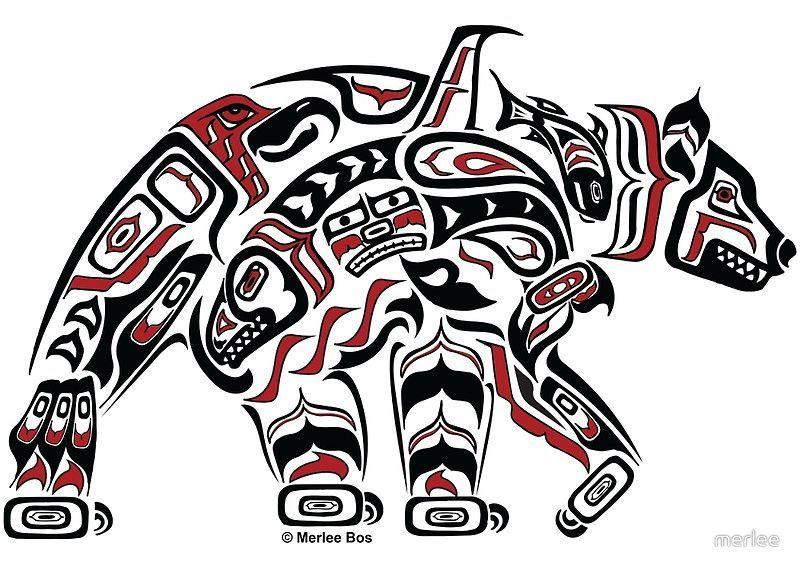 Featured Canadian Artist Polar Bear Haida By Merlee S Moods Bear Art Pacific Northwest Art Haida Art