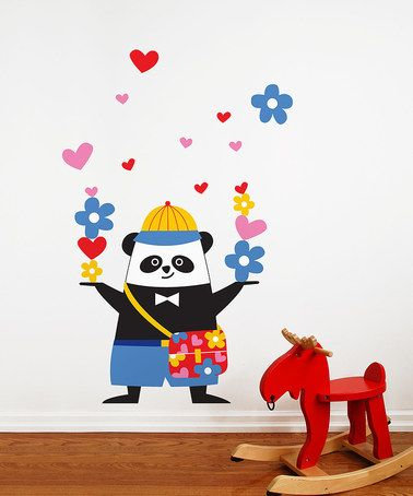 Take a look at this Schooltime Panda Wall Decal by ADzif on #zulily today! $39 !!