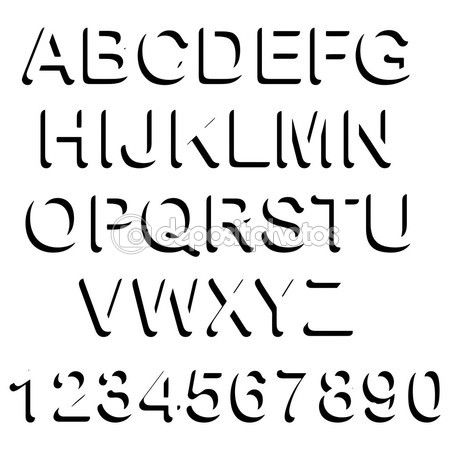 Vector ilustracin de sombra negra letra maysculas set y numbe