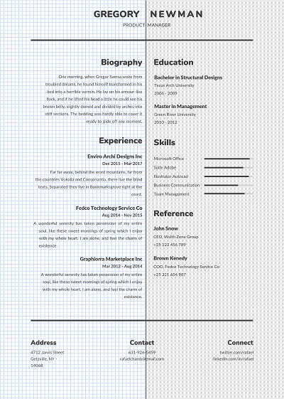 Glimmer Minimalist Resume Template Resume Outline Accountant Cv