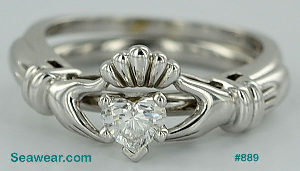 Someday if I ever get engaged a unique Claddagh ring like this