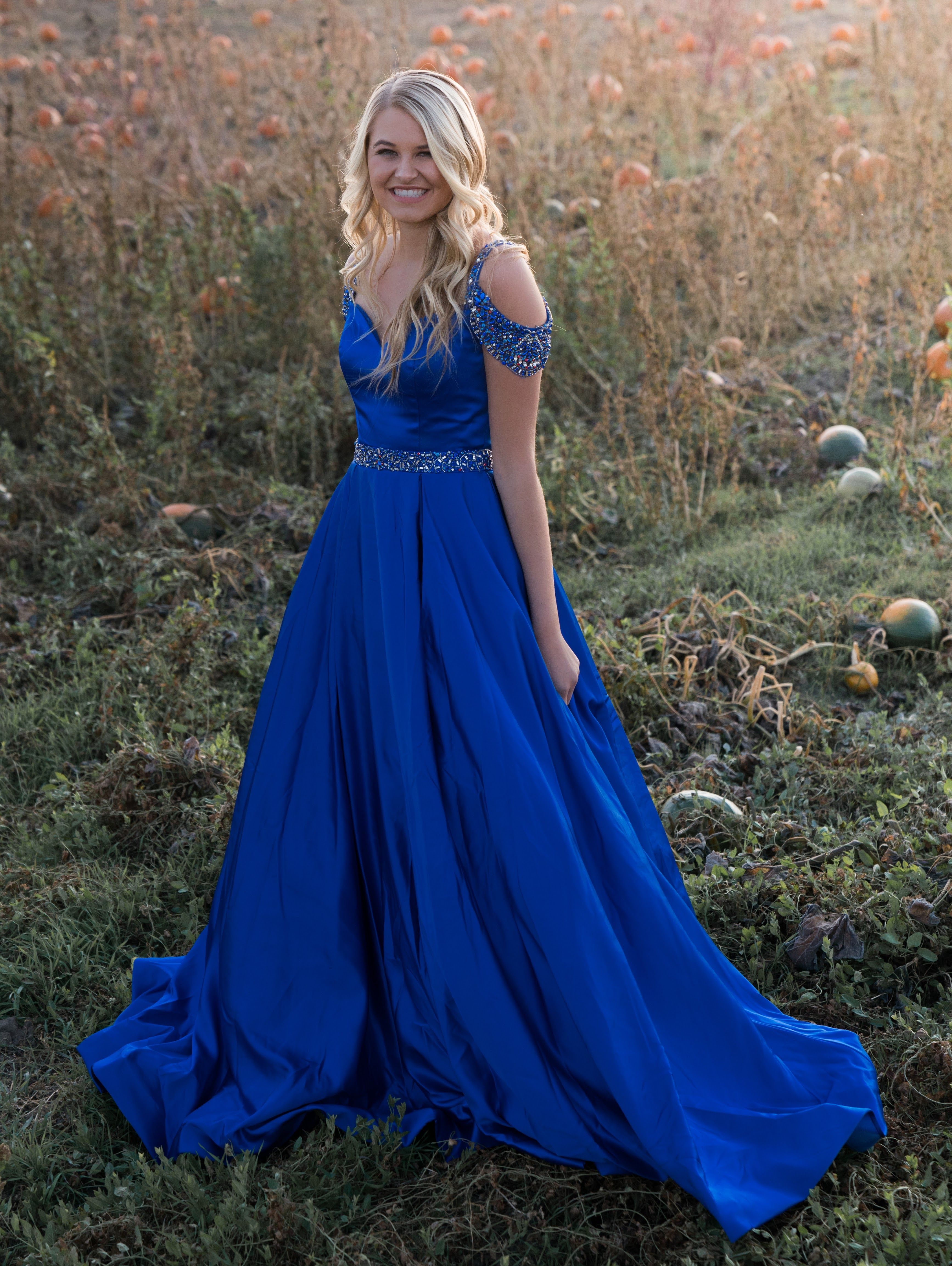 7fe5d4f14d SHERRI HILL Royal Blue Off the Shoulder Ballgown YPSILON DRESSES Prom  Pageant Evening Wear Sweethearts Homecoming School Dance Formal Formalwear