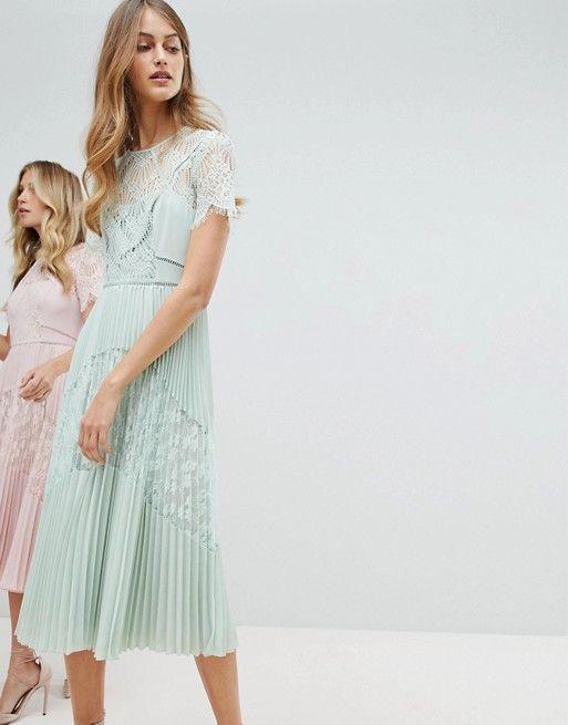 Whistles Exclusive Bridesmaids Lace Panel Midi Dress   Midi dresses ...