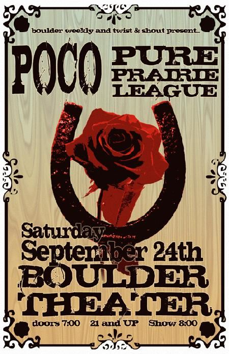 Poco Pure Prairie League Boulder 2011 Concert Posters Band Posters Poster