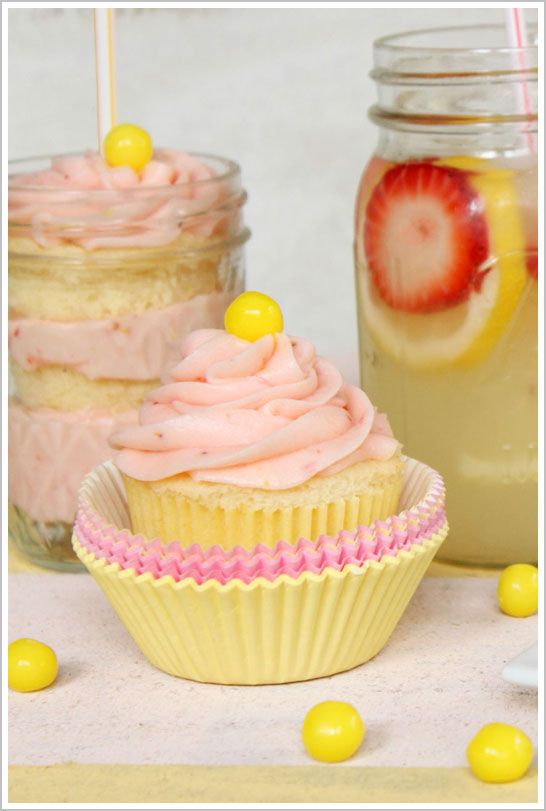 Strawberry Lemonade cupcake posted by Half Baked - created by Crave.Indulge.Satisfy