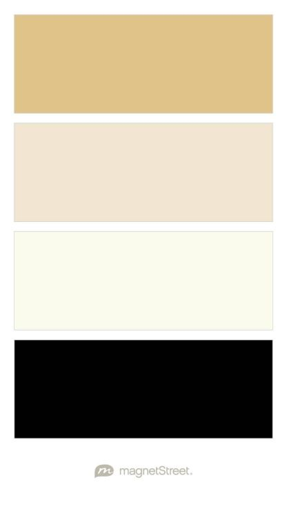 Gold Champagne Ivory And Black Wedding Color Palette Custom Created At Magnetstreet