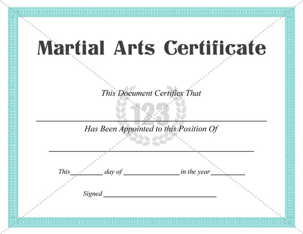 Best Martial Arts Certificate Templates for Free Download Now - free templates for certificates of completion