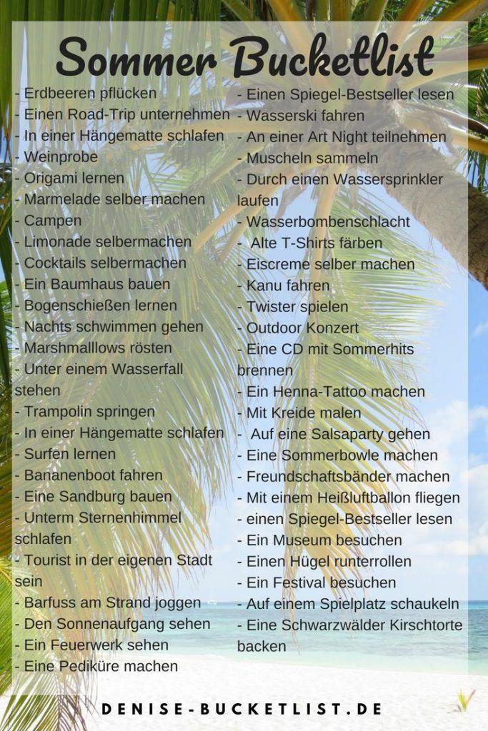 Photo of Sommer Bucket List: 50 Ideen für den perfekten Sommer 2020