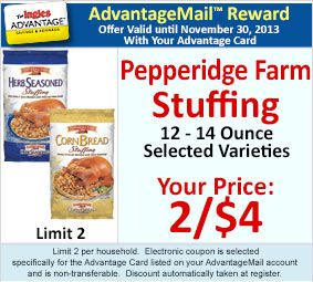 Ingles Weekly Ad 11 17 11 23 With Coupon Match Ups Pepperidge Farm Coupons Weekly Ads