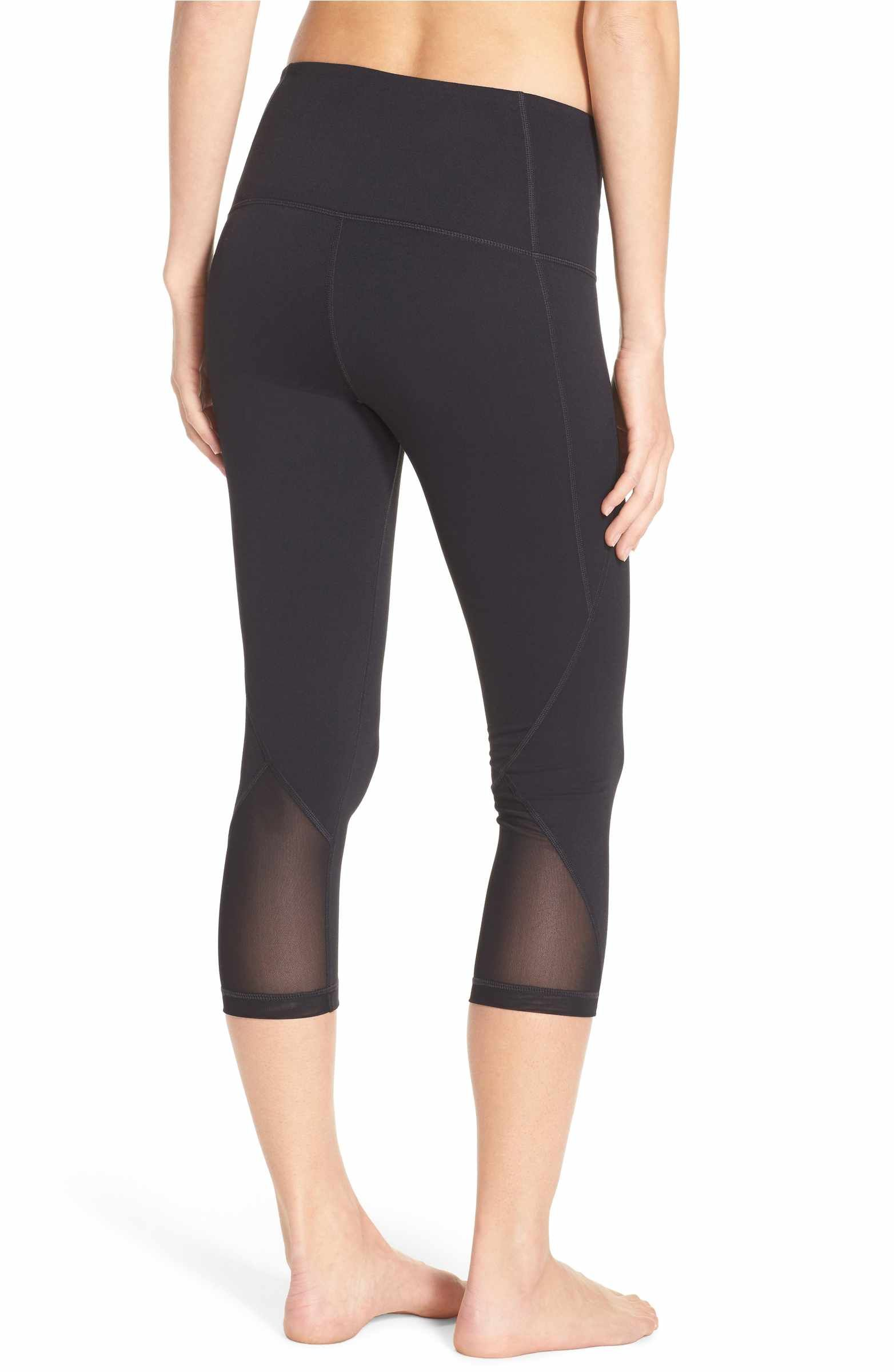 e8808fbe0f Free shipping and returns on Zella 'Hatha' High Waist Crop Leggings at  Nordstrom.com. Breezy mesh panels ventilate snug moisture-wicking Zeltek  leggings ...