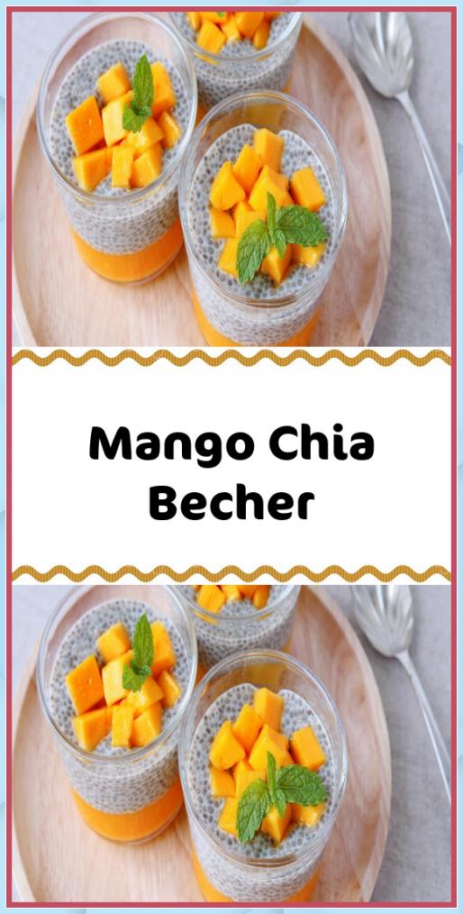 Mango Chia Becher Brotbacken im Romertopf #Mango #Chia #Becher #Brotbacken #Romertopf