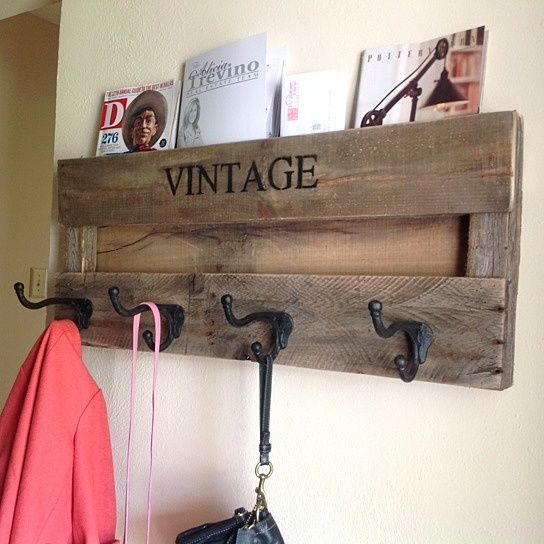 Vintage coat rack from del hutsondesigns great for an - Percheros pared vintage ...