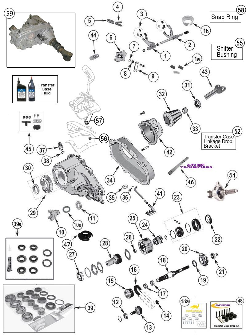 hight resolution of np 231 transfer case parts for wrangler tj yj cherokee xj grand cherokee zj at morris 4x4