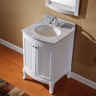 Virtu Usa Khaleesi 24 Inch Single Sink White Vanity With