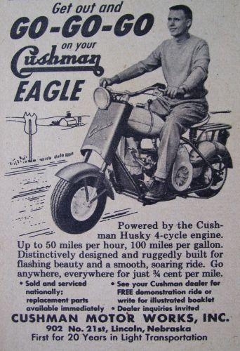 Get out and Go-Go-Go • Cushman Eagle (1950s)