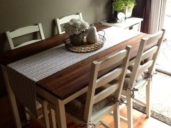 DIY IKEA Hack Faux Farmhouse Jokkmokk Table Makeover