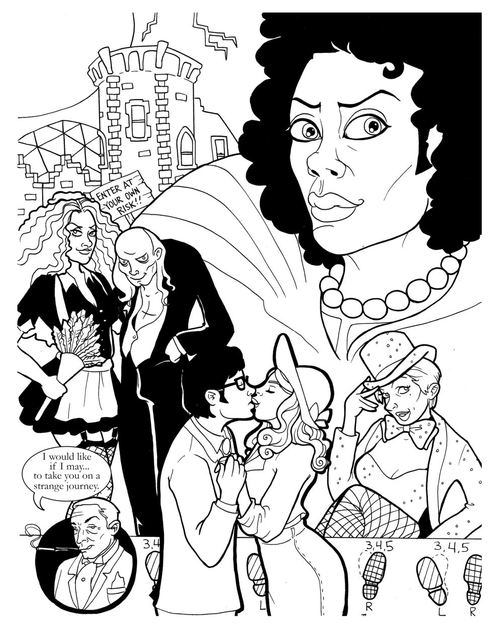 holy this is great fellow rhps fans rejoice monster rocky horror picture show coloring pages
