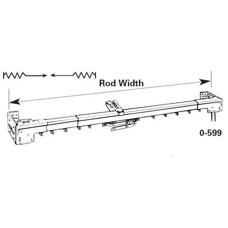 Graber Super Heavy Duty Two Way Draw Traverse Rod Rod Heavy