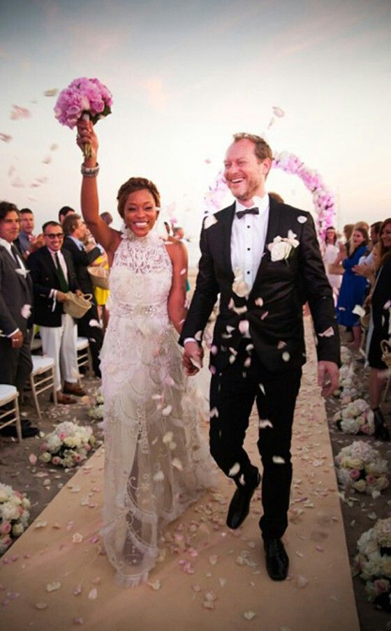 Rapper Eve Love Her Wedding Dress Celebrity Weddings