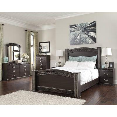 Signature Design Vachel B264 Queen 7 pc Poster Bedroom Set Master