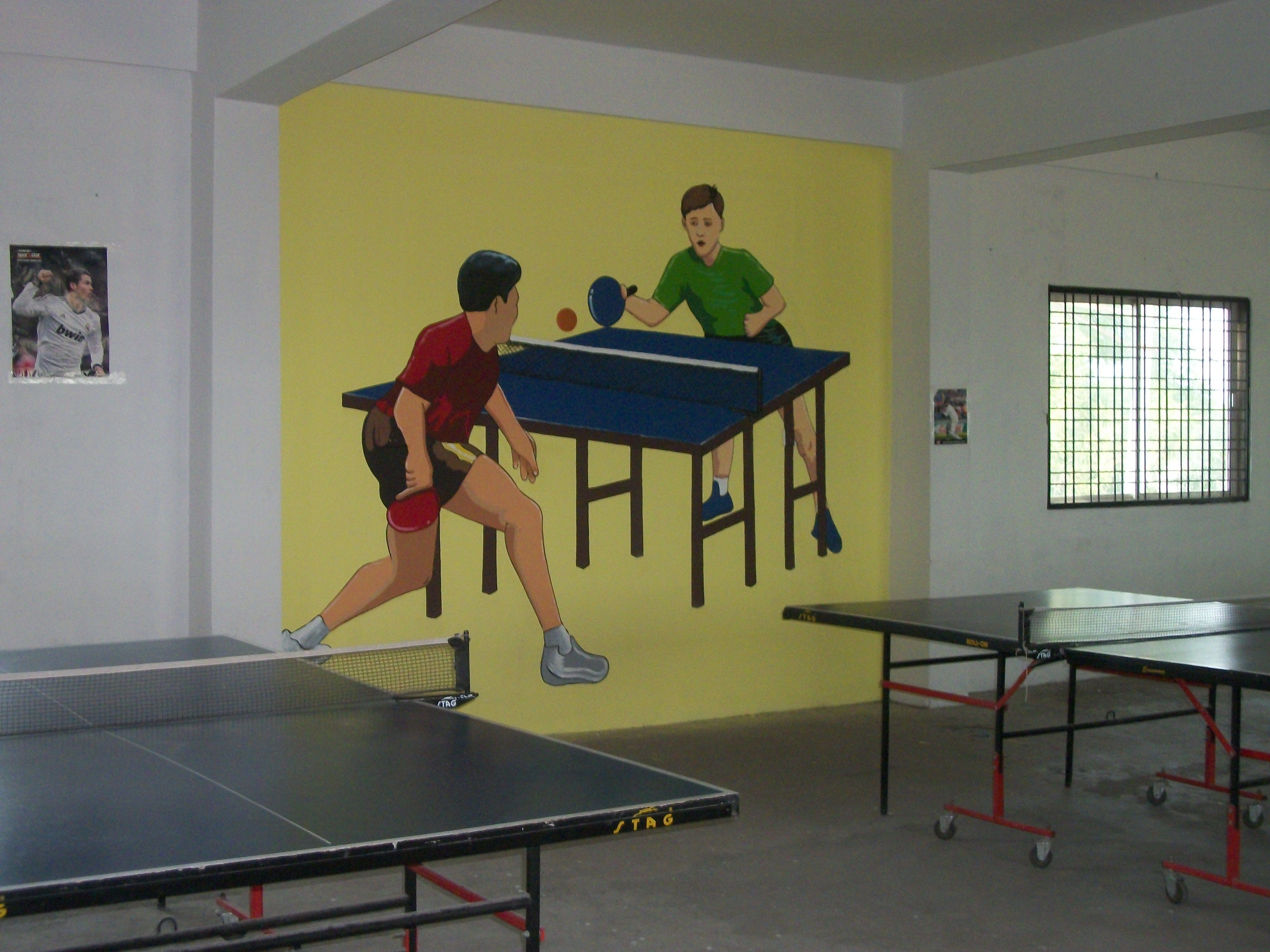 Boys Play Room Wall Painting Room Wall Painting Gym Wall Decor Sports Wall Decor