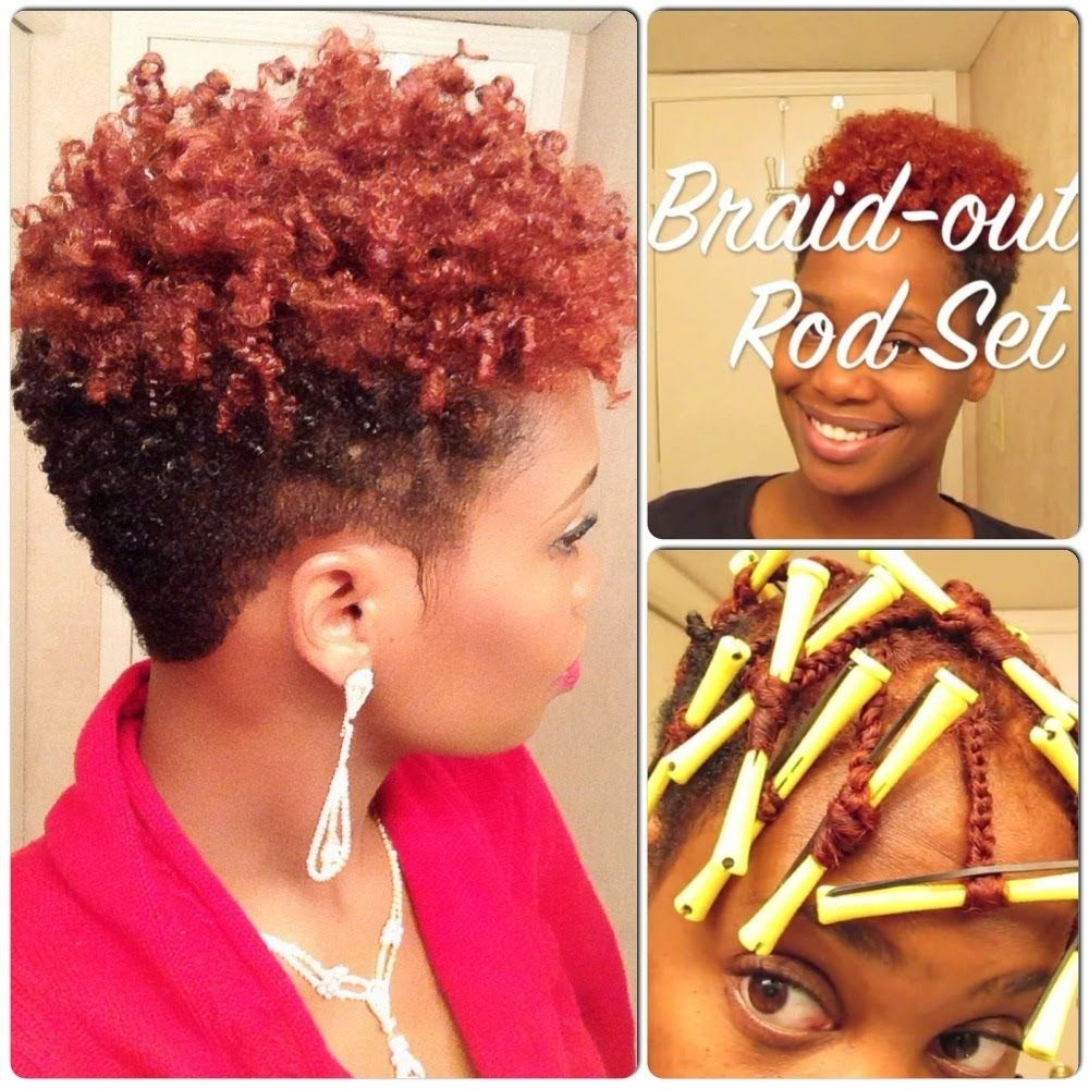 Braidout rod set on tapered natural hair hairstyles pinterest