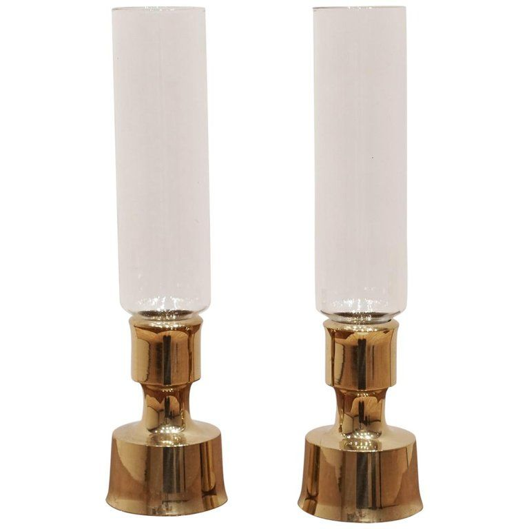 Dansk Designs Brass Glass Dansk Hurricanes Danish Candle